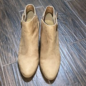 Diba tan ankle booties